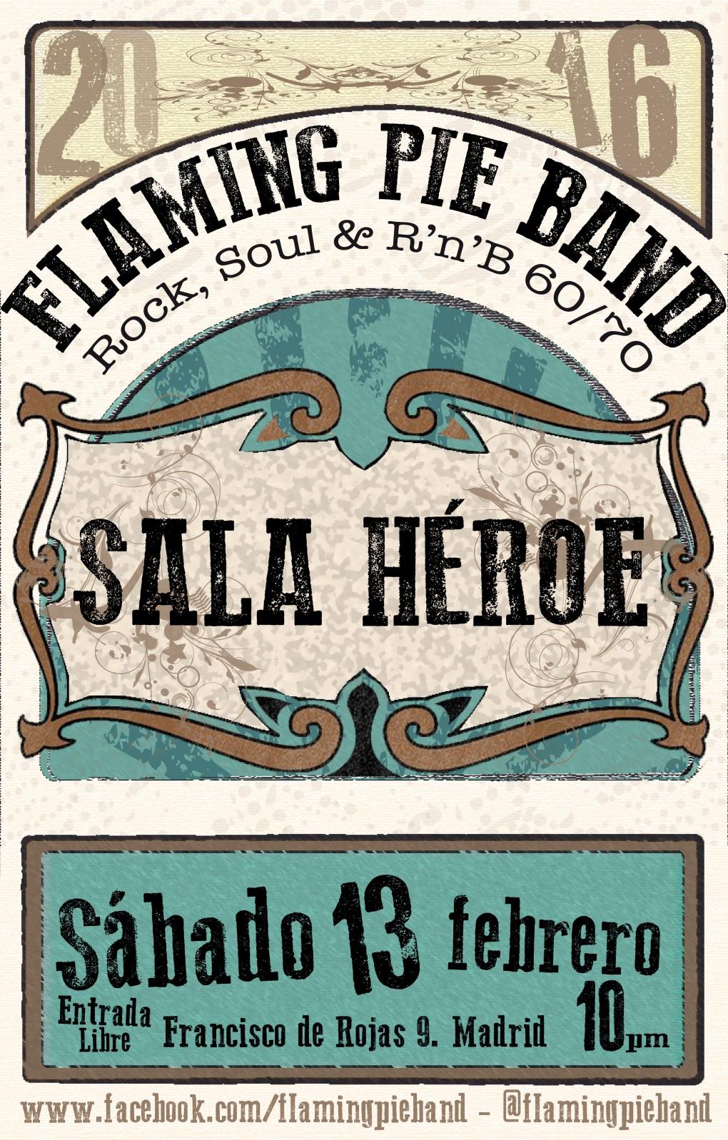 Cartel sala héroe febrero 2016
