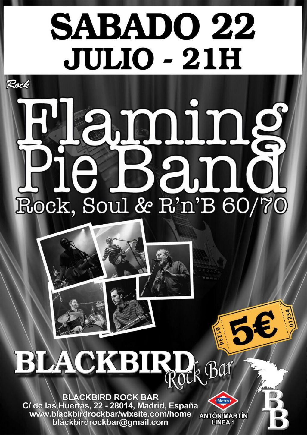Cartel FPB Blackbird 22 julio 2017