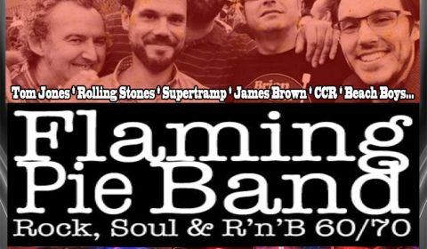 FLAMING PIE BAND BANDA VERSIONES ROCK POP SOUL 60 70 MADRID BLACKBIRD JULIO 2018