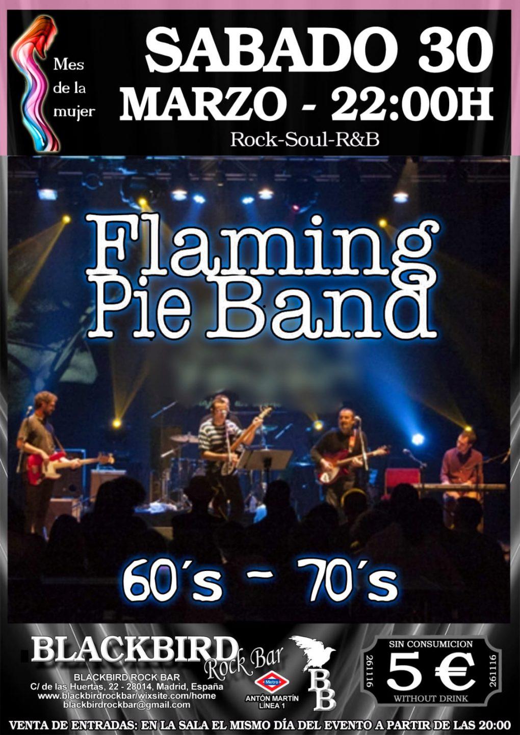 FLAMING PIE BAND VERSIONES POP ROCK SOUL 60 70 MADRID EN BLACKBIRD