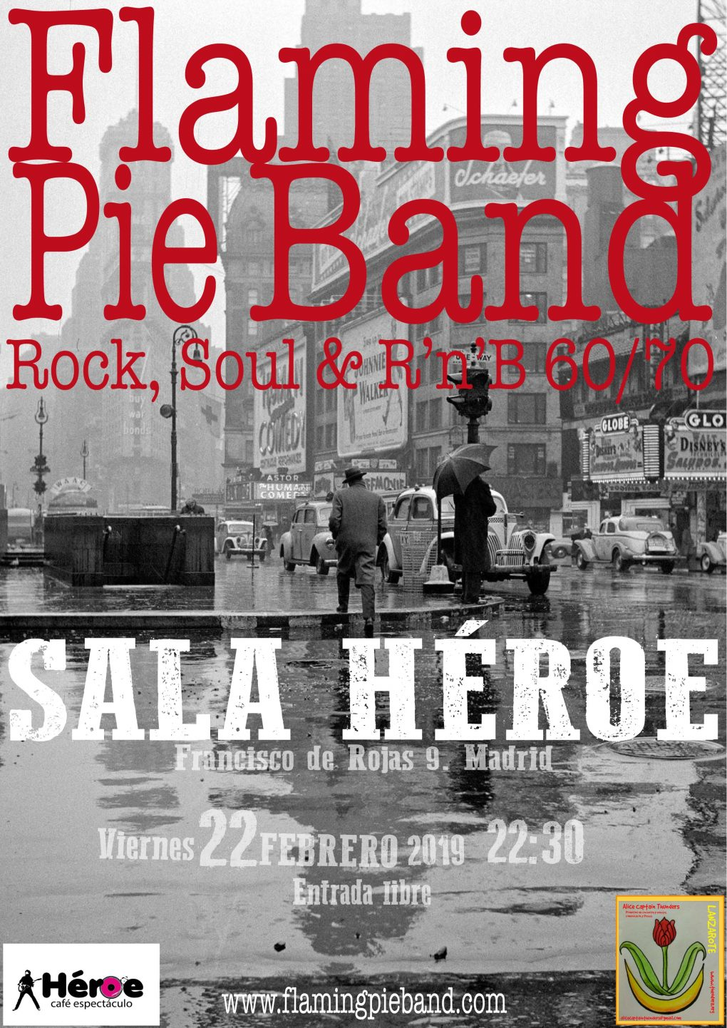 flaming pie band versiones cover 60 70 madrid sala heroe