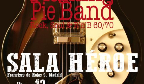 Viernes 13 de diciembre 2019. Sala Héroe, Madrid. FLAMING PIE BAND, LA BANDA DE VERSIONES ROCK, POP Y SOUL 60 y 70 DE MADRID.