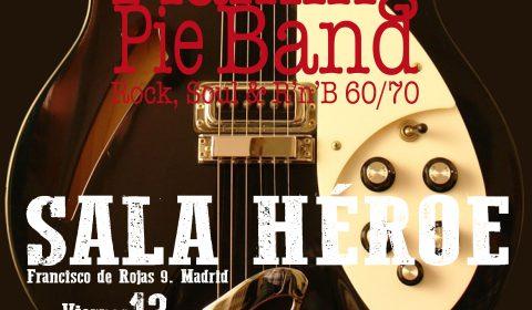 Viernes 13 de diciembre 2019. Sala Héroe, Madrid. FLAMING PIE BAND, LA BANDA DE VERSIONES ROCK, POP Y SOUL 60 y 70 DE MADRID.