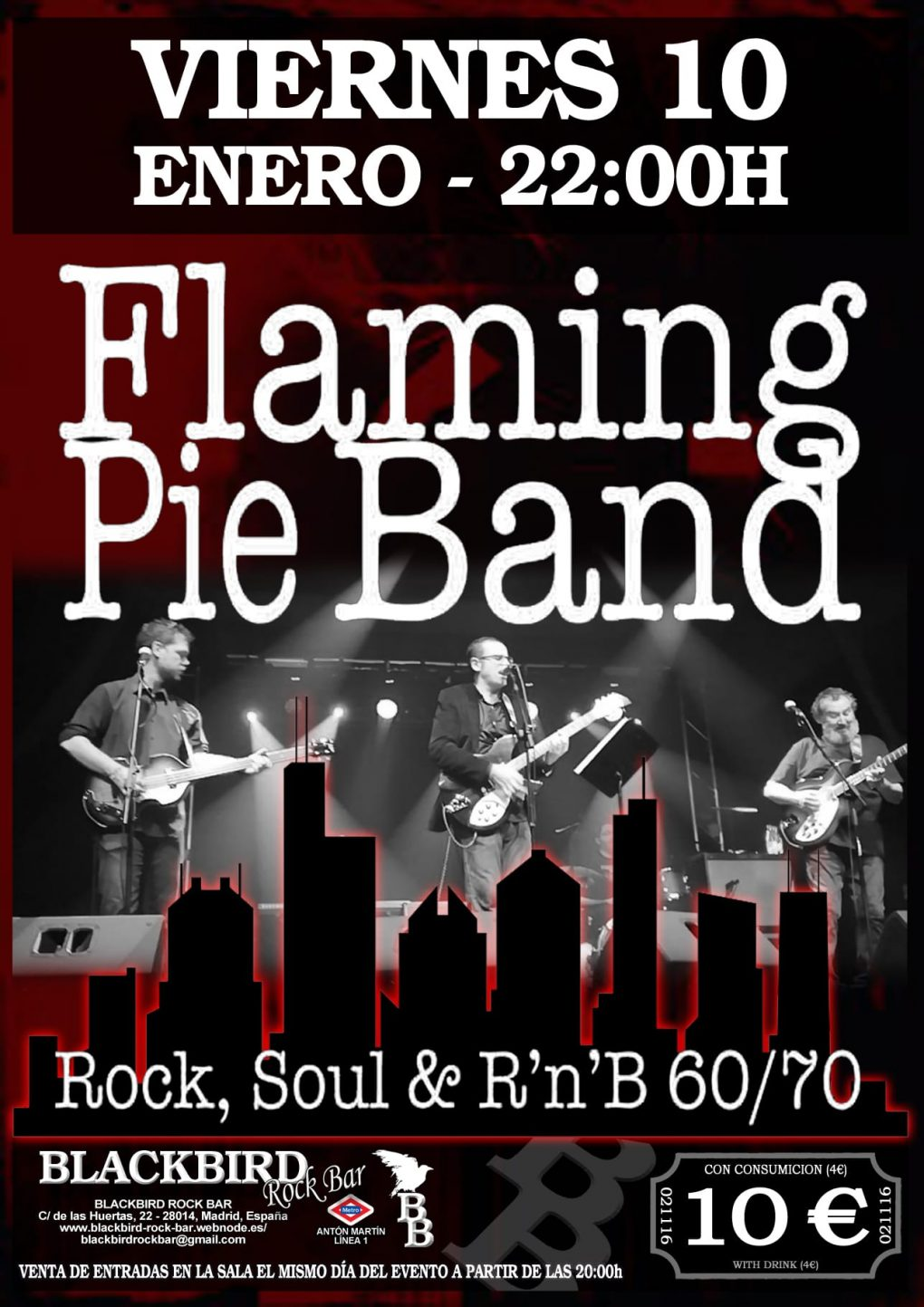 Flaming Pie Band, versiones ROCK, POP Y SOUL 60 y 70. Madrid sala blackbird